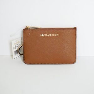 Michael Kors JST S Coin Pouch ID Wallet Brown